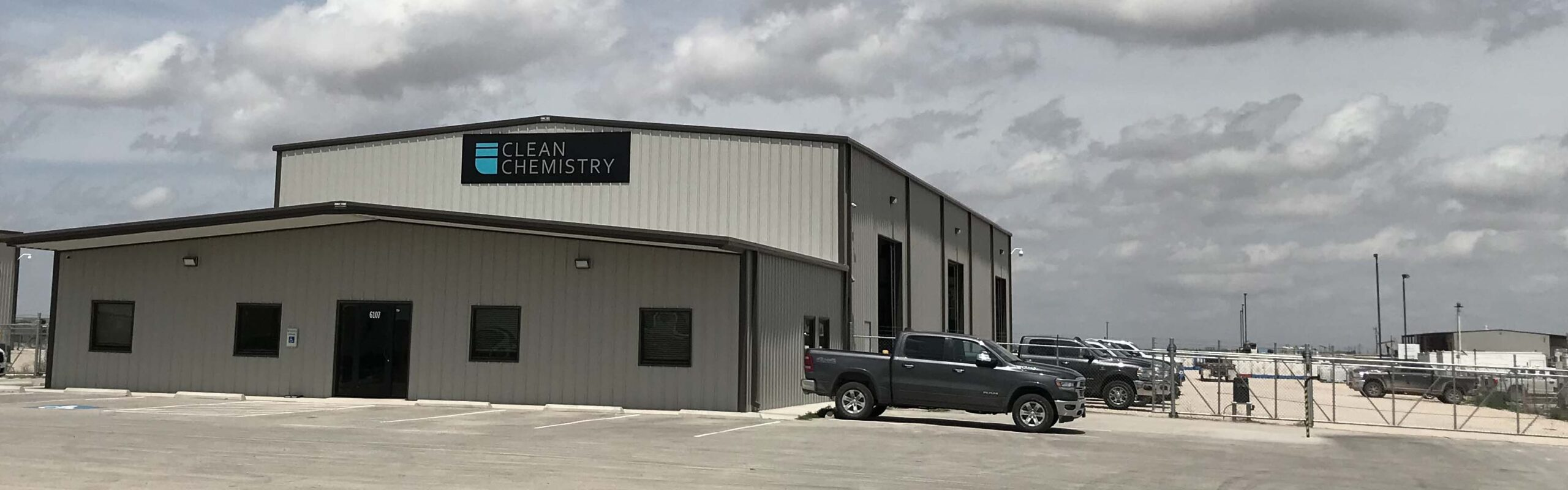 Clean Chemistry's Midland office features a large warehouse and yard.